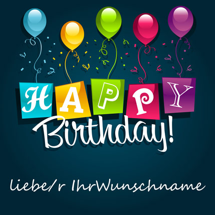 "�Happy Birthday..."" Video mit pers�nlicher Widmung"