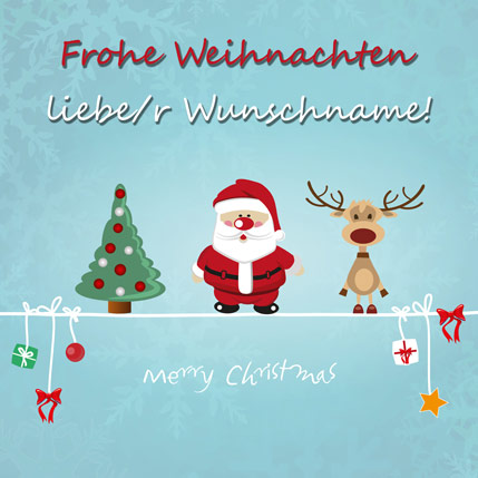 """Frohe Weihnachten..."" Lied als MP3-Download"
